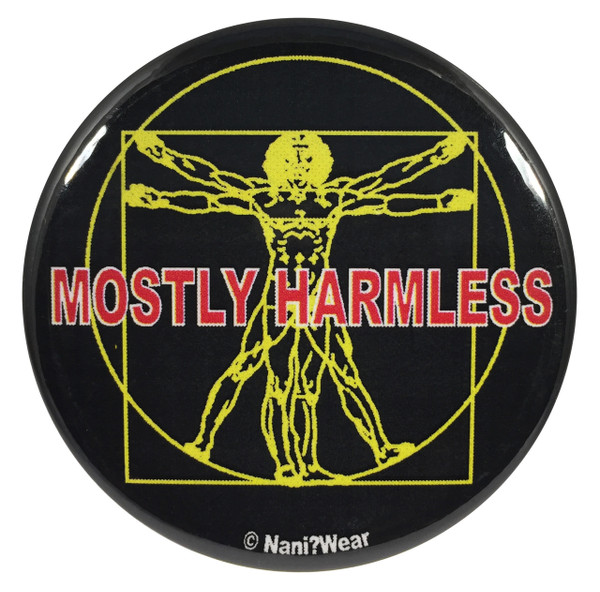 Hitchhikers Guide to the Galaxy 2.25 Inch Geek Button Mostly Harmless