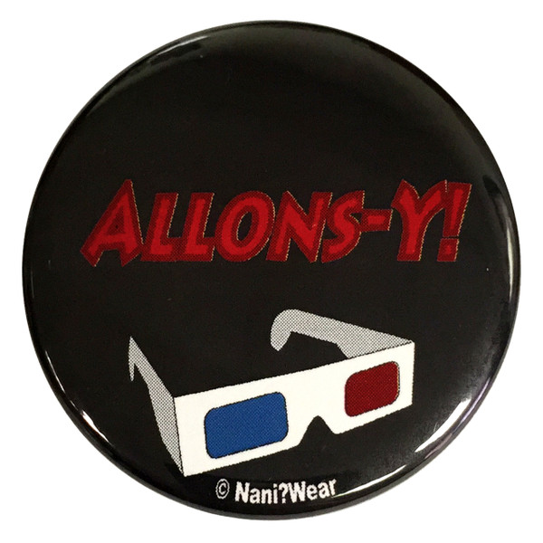 10th Doctor Who 2.25 Inch Button Allons-Y