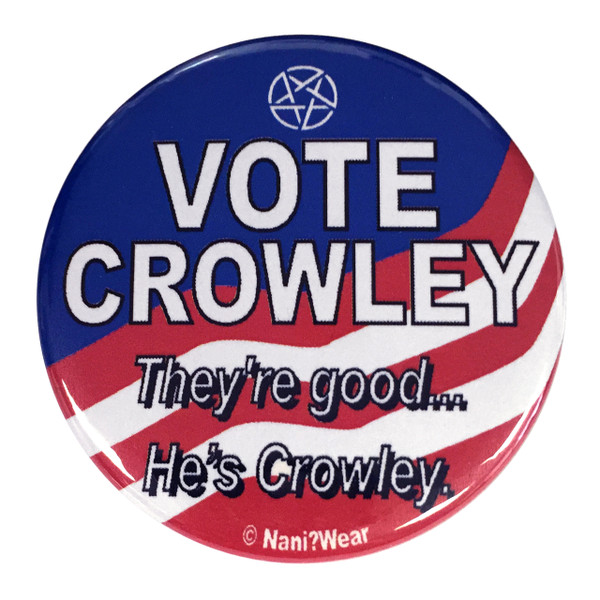 Supernatural Vote Crowley 2.25 Inch Button