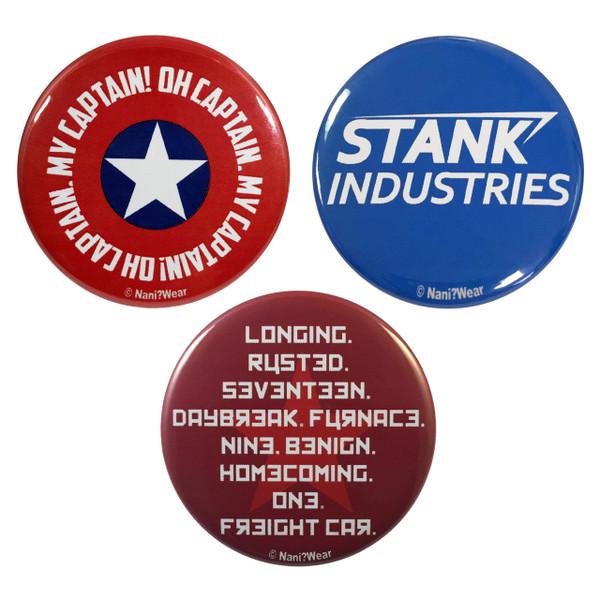 Captain American Civil War 3-Button Set
