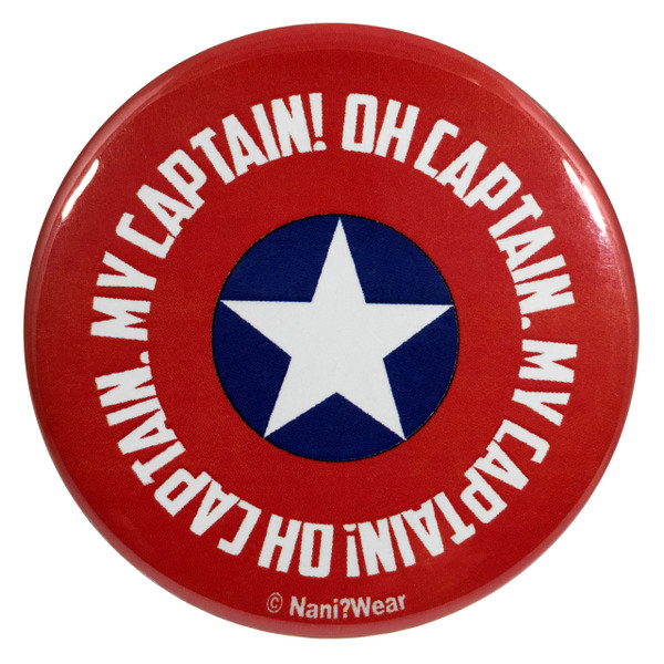 Captain America 2.25 Inch Button Oh Captain My Captain