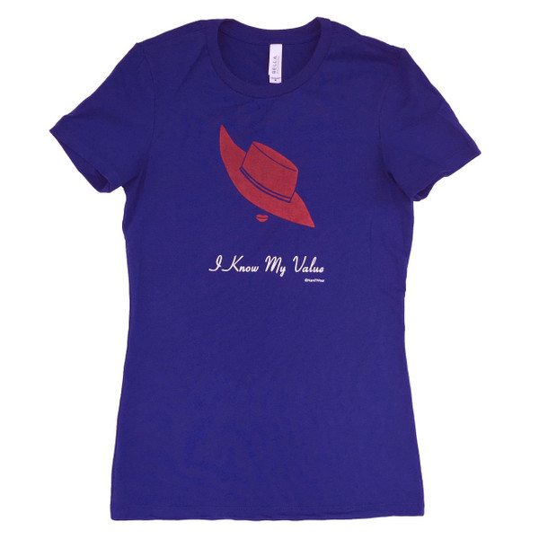Peggy Carter I Know My Value Juniors Fitted T-Shirt
