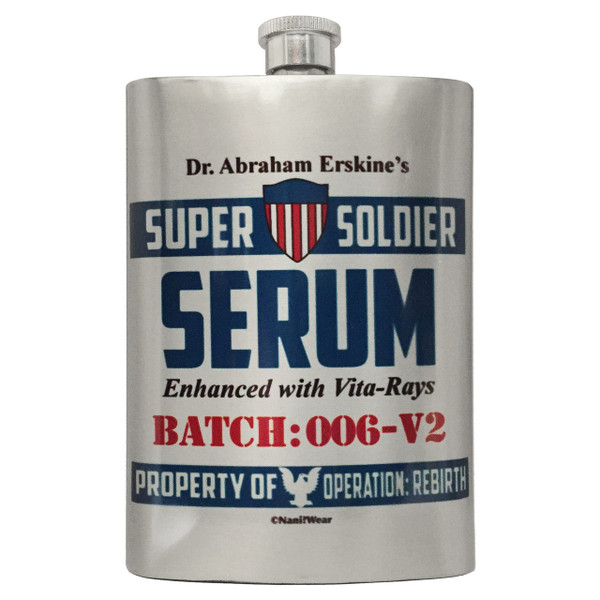 Captain America Flask Dr. Erskine's Super Soldier Serum