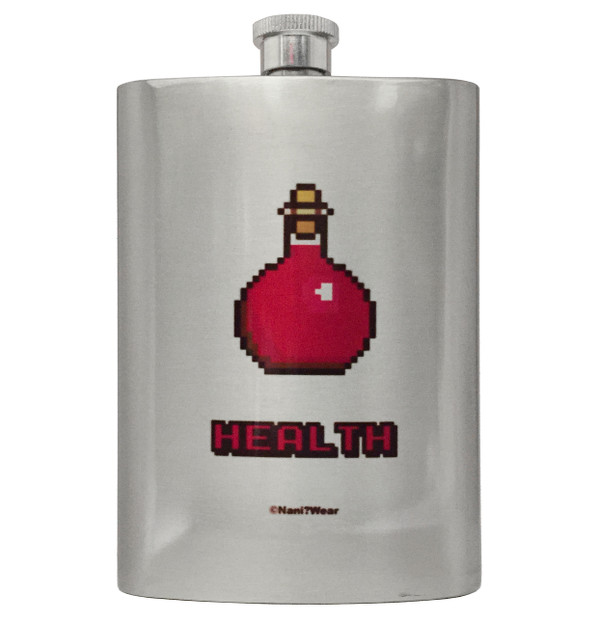 Gamer Geek Role Playing 8oz Flask Health Potion