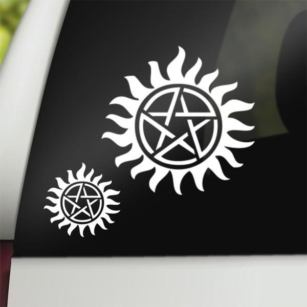 Supernatural Geek Vinyl Car Decal Anti-Possession