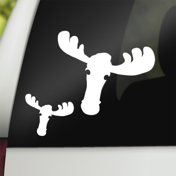 Supernatural Geek Vinyl Car Decal Moose Sam Winchester