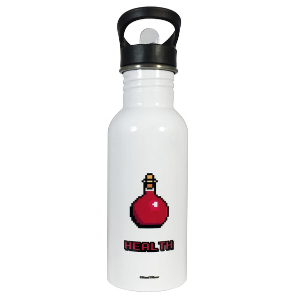 Role Playing Fantasy Gamer 8 Bit Health Potion 20oz Water Bottle
