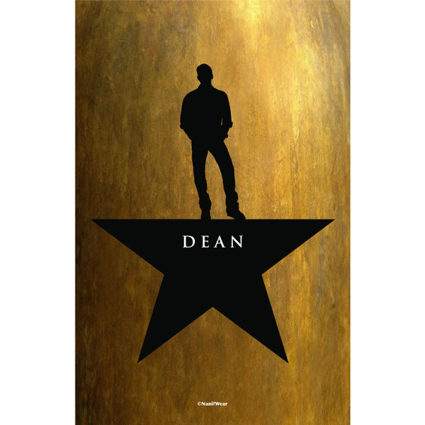 Dean Winchester Supernatural Hamilton Mash-Up Art Print