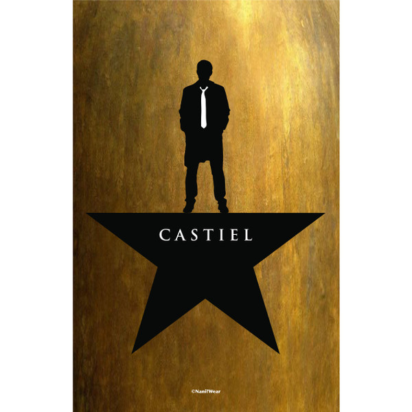 Castiel Supernatural Hamilton Inspired Mash-Up Art Print