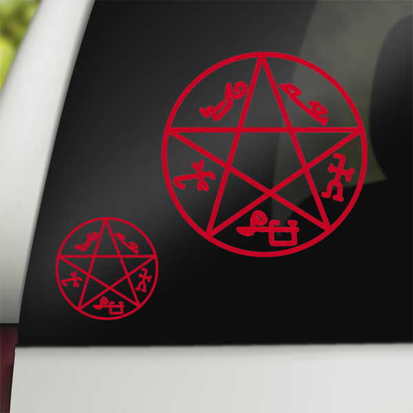 Supernatural Geek Vinyl Car Decal Devil's Trap