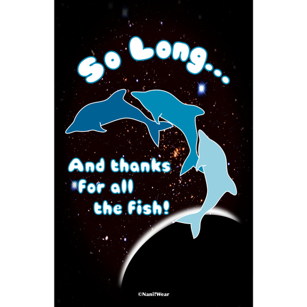 Hitchhiker's Guide Art Print So Long and Thanks for All the Fish