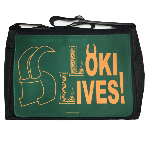 Loki Avengers Inspired Large Messenger/Laptop Bag Loki Lives!