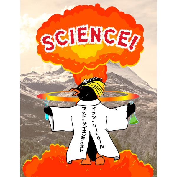 Mad Scientist Penguin Jigsaw Puzzle 252 Pieces SCIENCE
