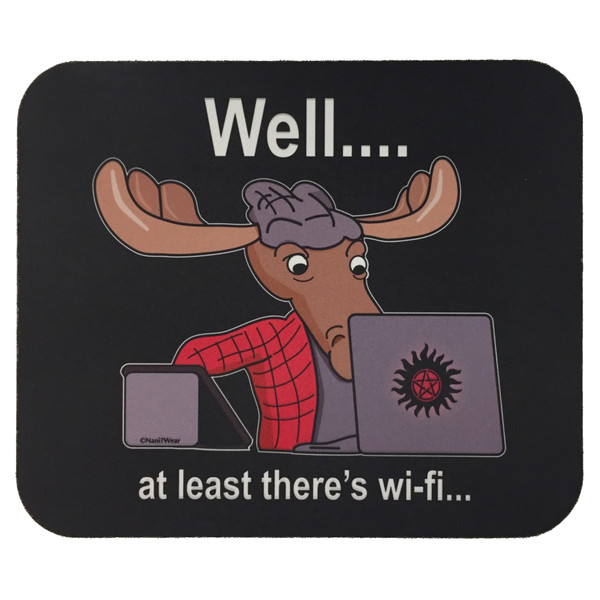 Supernatural Sam Winchester Mouse Pad At Least There's WiFi