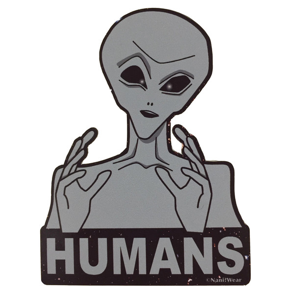 Ancient Aliens Geek Sticker Humans