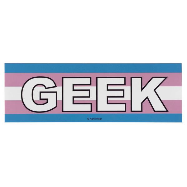 LGBTQA Transgender Geek Pride Flag Bumper Sticker
