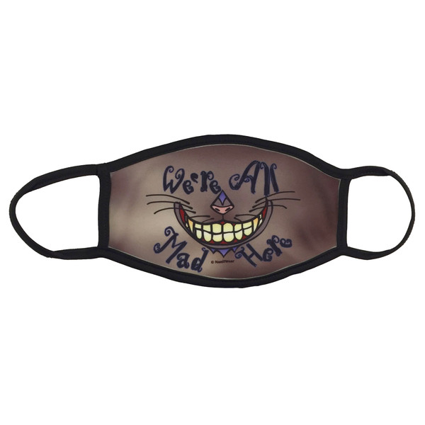 Alice in Wonderland Cheshire Cat Face Mask We're All Mad Here