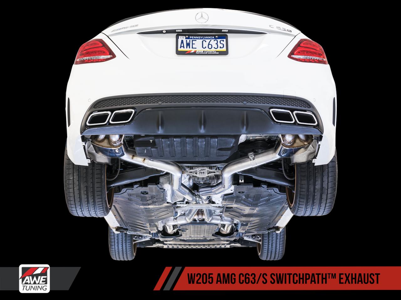 AWE Tuning Mercedes Benz W205 C63 AMG Exhaust