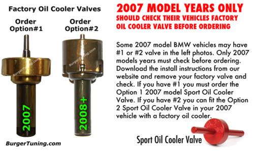BMS Sport Oil Cooler Valve