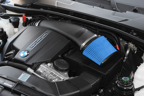 N55 Injen 11 BMW E82 135i Turbo//E90 335i Wrinkle Black Tuned Air Intake w// MR