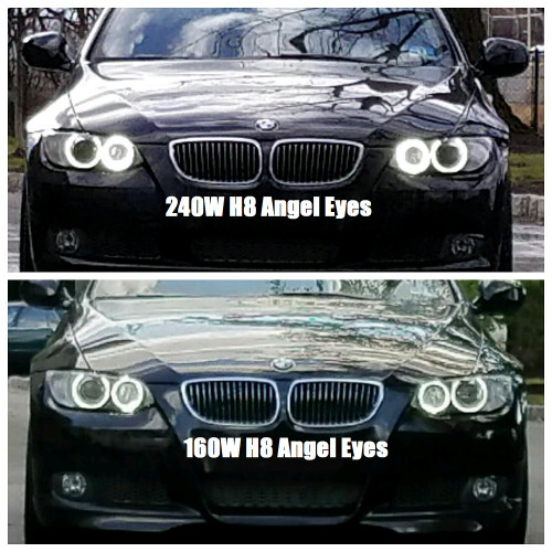 Hpb 240 Watt Total Output H8 Bmw Cree Led Angel Eye Upgrade Bmw E90