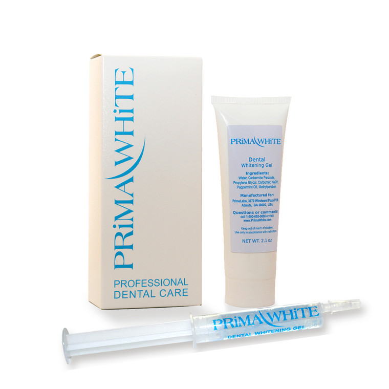 Prima White Bulk Value Teeth Whitening (Bleaching) Carbamide Peroxide Touch-Up Gel with Over 100 Teeth Whitening Applications