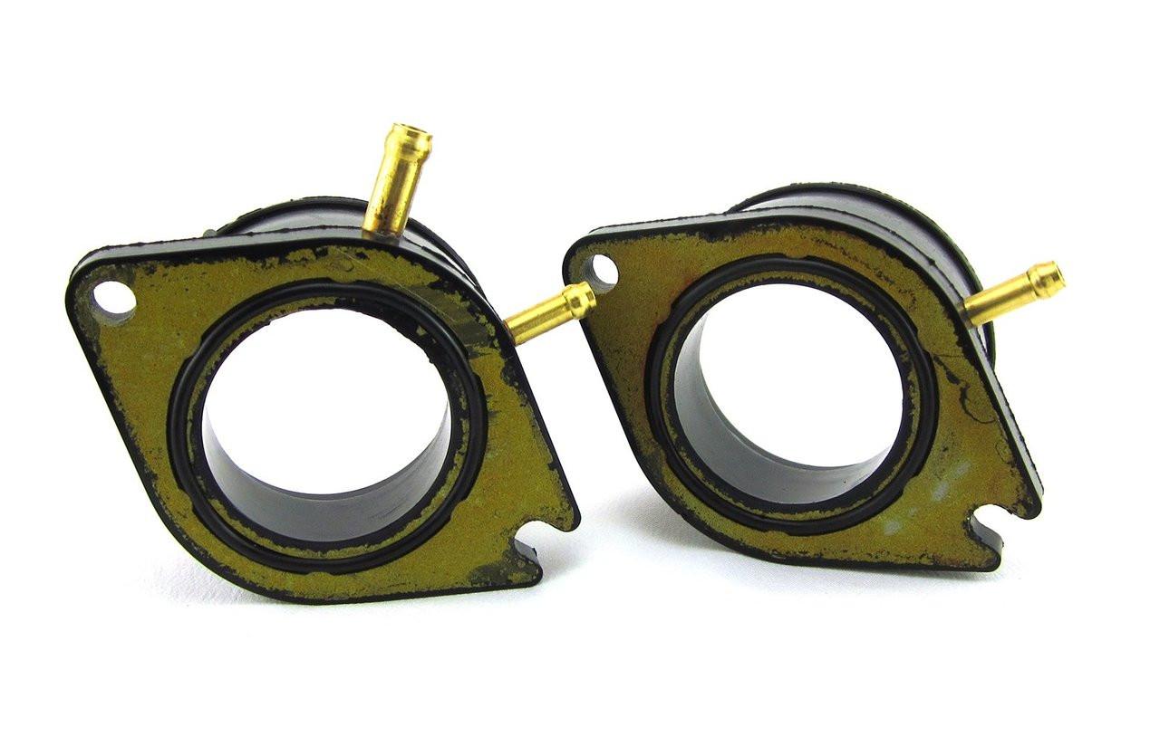 Carburetor Intake Manifold Boot,2Pcs Carburetor Intake Manifold Boot Fit for Y/&V XV700//XV750//XV920//XV1100 24M-13586-01-00
