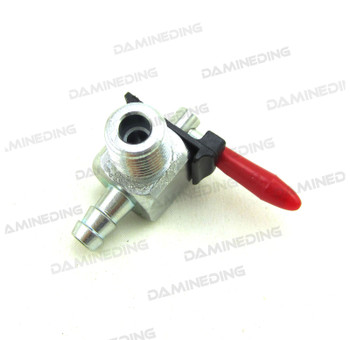 """Motorcycle Gas Tank Petcock 1/4"""" NPT Zinc Plated for 1/4"""" Fuel Line for 000183"""