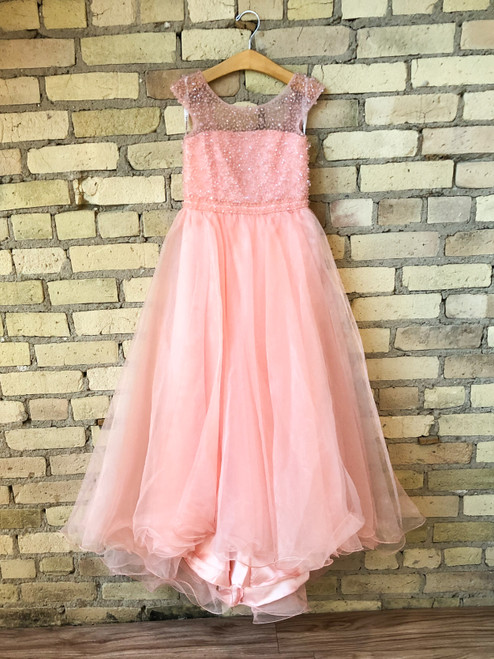 Size 4 | Sherri Hill Pink Flower Girl