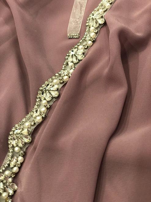 Rinestone & Pearl Belt