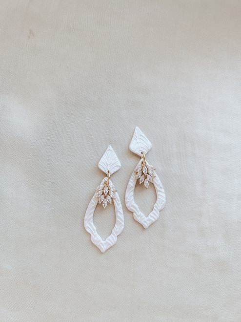 Clay & Fern Co Teardrop Clay Earrings