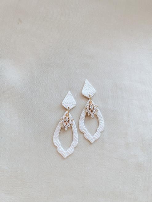 Clay & Fern Co Teardrop Clay Earrings