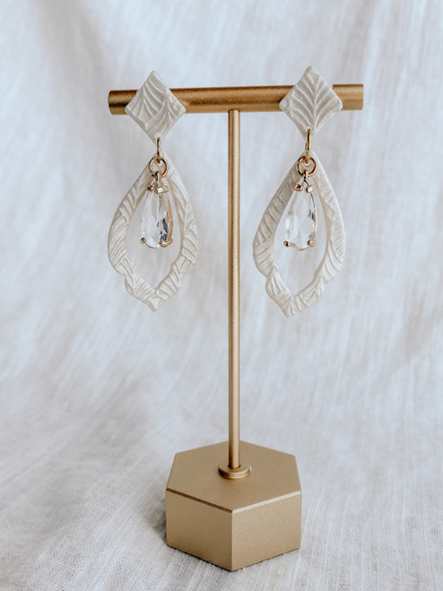 Clay & Fern Co Teardrop/Charm Clay Earrings