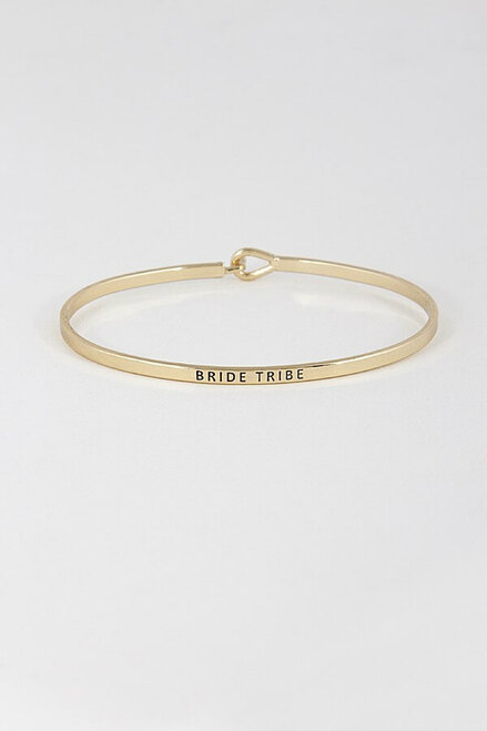 """Bridetribe Bangle. The perfect accessory item for everyday wear or way to """"pop the question"""" to your besties."""