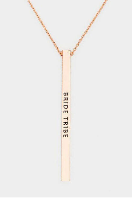Bride Tribe Bar Necklace