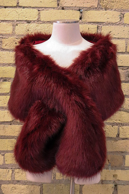 A must have accessory item for your Winter wedding. Complete your bridal attire or dress the entire wedding party in soft and classy vegan fur. Wrap is approx. 32 inches long and 11 inches wide. Wear as a wrap or use the pull through option to keep in place.