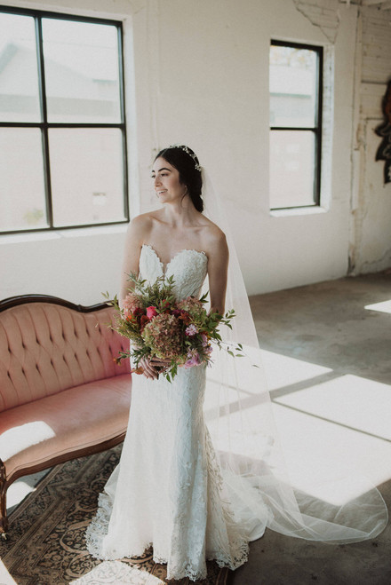 Beaded Pearl Edge Cathedral Length Veil