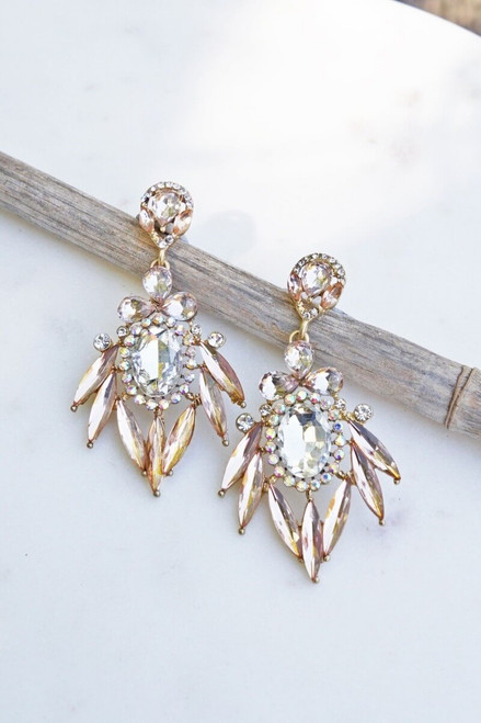 Ash Dangle Wedding Earring.