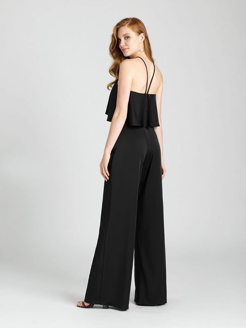 Who says a bridesmaid has to wear a dress? This high-neck halter jumpsuit makes a statement.