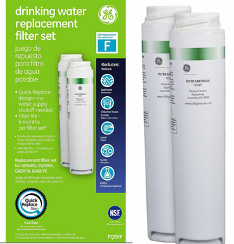 GE FQSVF Dual Stage SmartWater Under Sink Drinking Water Filter