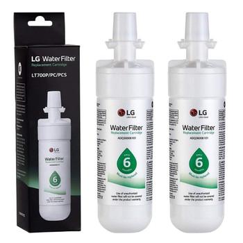 2 Pack LG LT700P Water Filter ADQ36006101 ADQ36006102 Kenmore 46-9690