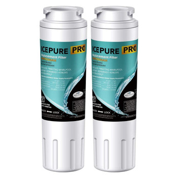 2 Pack Everydrop Filter 4 EDR4RXD1 Whirpool UKF8001 4396395 Replacement Water Filter by Icepure