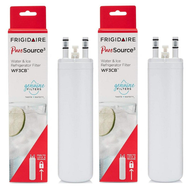 2 Pack WF3CB Frigidaire Puresource3 Refrigerator Water Filter 9 inch