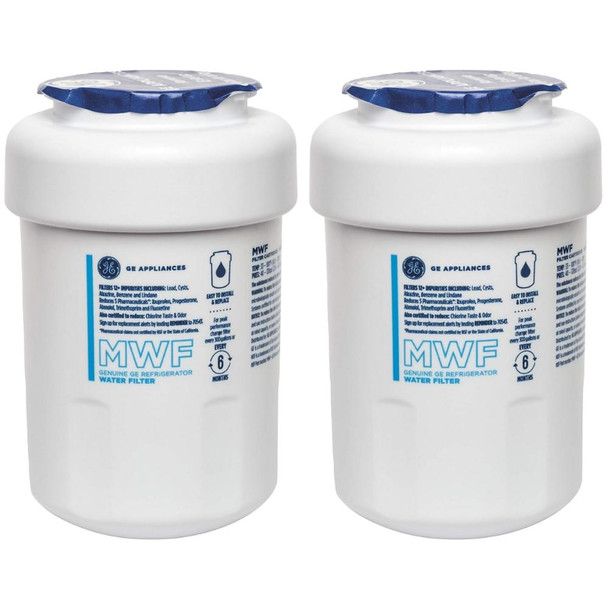2 Pack GE MWF Smartwater Filter MWFP MWFA GWF Kenmore 46-9991 46-9996