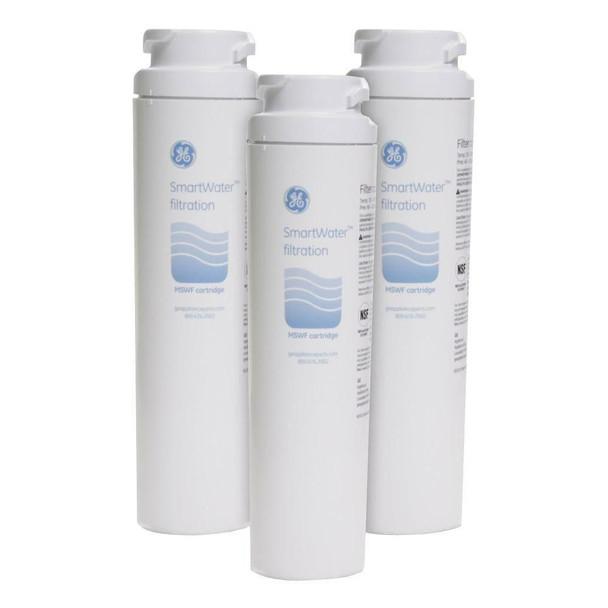 3 Pack GE MSWF SmartWater Refrigerator Water Filter
