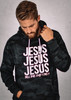 NEW! CAMO JESUS HOODIE-GLOW IN THE DARK!