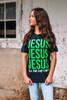 SHORT SLEEVE JESUS-GREEN
