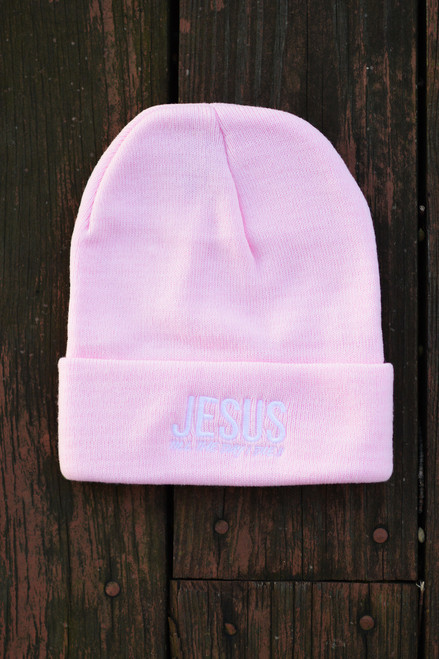 JESUS BEANIE - LIGHT PINK
