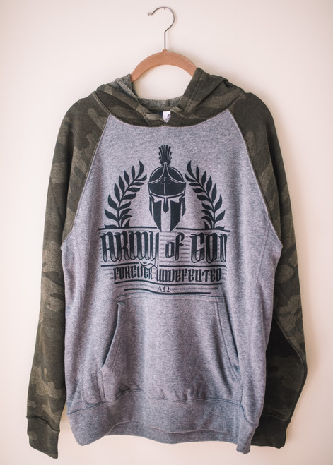 NEW! CAMO ARMY OF GOD HOODIE