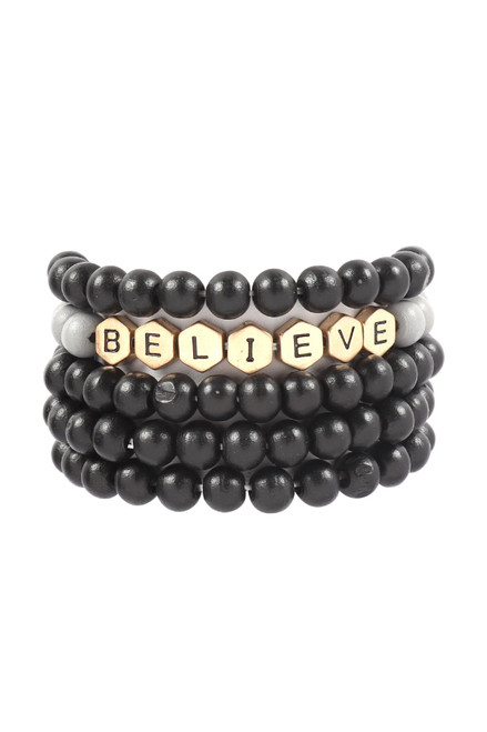 NEW! BELIEVE BEADED BRACELET